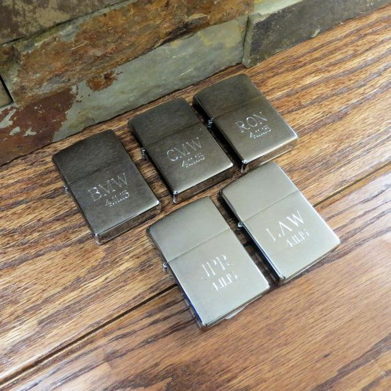 Groomsmen gifts? Set of 5 Personalized Zippo Lighter Brushed by tiposcreations
