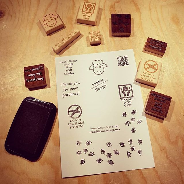 Made some wooden stamps. Think they will work OK.