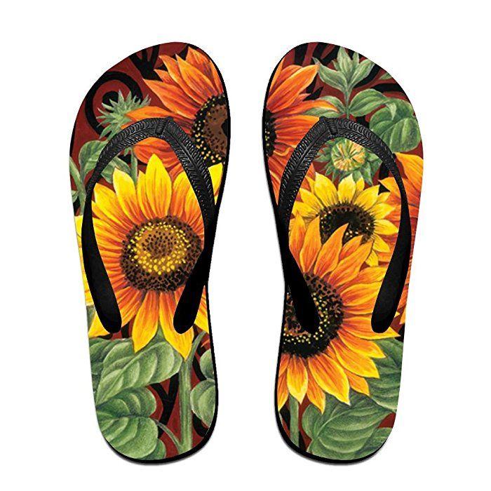 Creative Welcome Sunflower Unisex Fashion Beach Flip Flops Sandals Slippers Sandal For Home & Beach