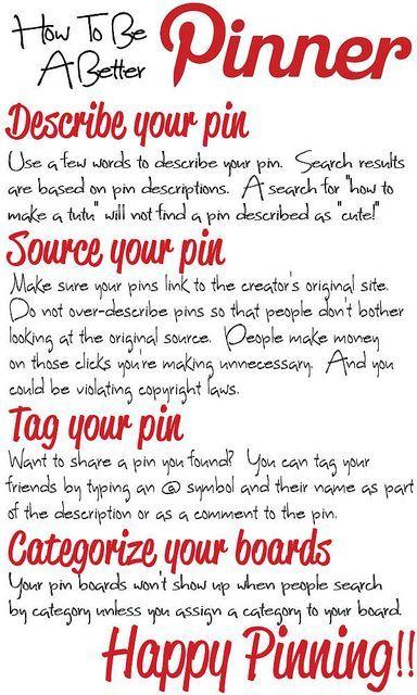 How To Be A Better Pinner #Pinterest #socialmedia