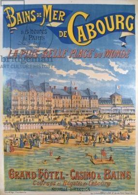 Cabourg, France  (1890)  : une des premières stations balnéaires de France :