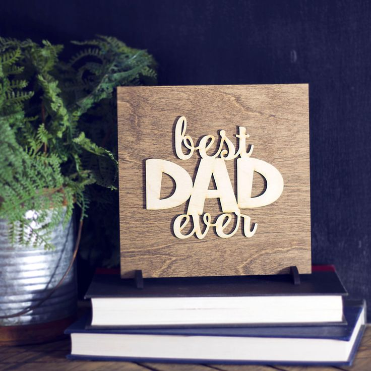 Father's Day Gift - Gifts for Dad - Office Decor Sign - Best Dad Ever - Gift for Dad - Gifts For Men - New Dad Gifts - Fathers Day Gift by MannMadeDesigns4 on Etsy https://www.etsy.com/uk/listing/491701485/fathers-day-gift-gifts-for-dad-office