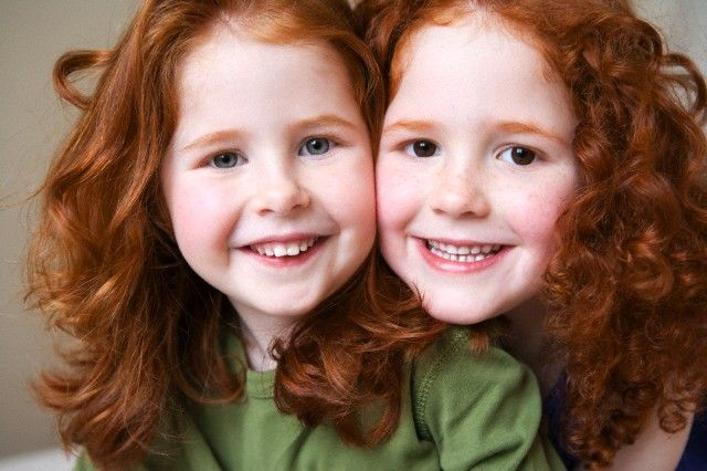 in pairs shared by www.twinsgiftcompany.co.uk Two redheads
