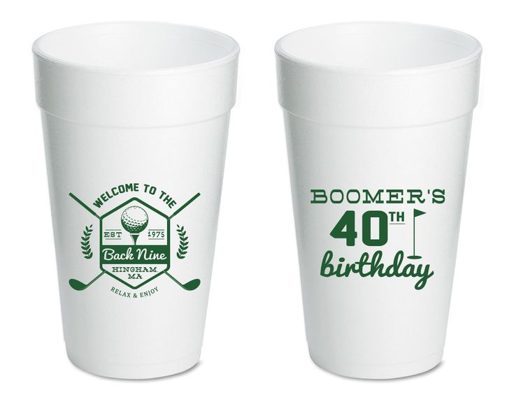 Golf Party Cups, Golfer Birthday Cups, Party Favors, Birthday Party Favors…