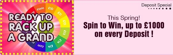Get ready to rack up this #spring season with grand cash prizes to win at @Harrys Bingo