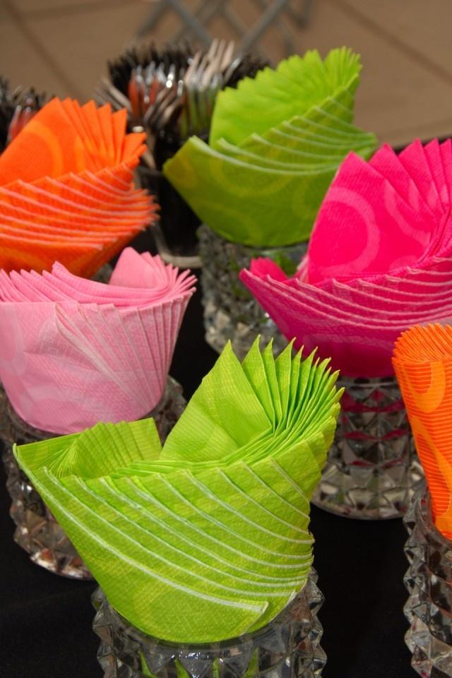 Gekleurde servetten