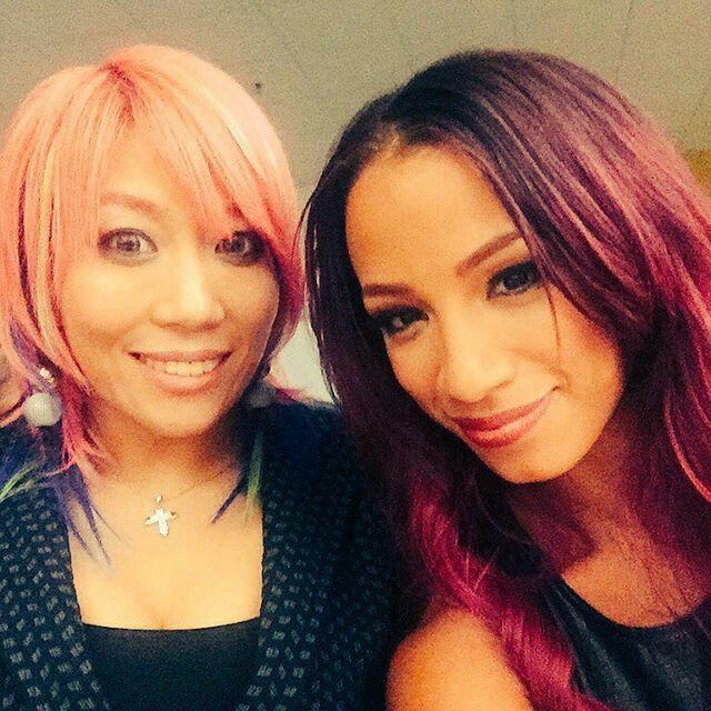 WWE's newest Diva, Asuka with Sasha Banks