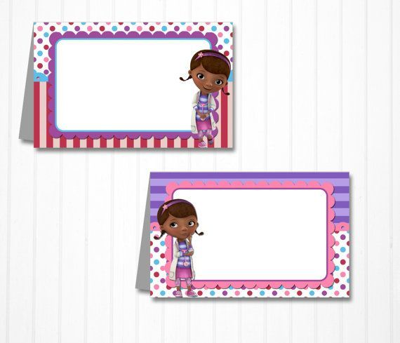 Free Printable Doc Mcstuffins Buffet Cards Google Search