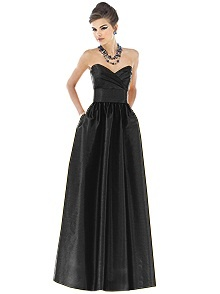 Alfred Sung Style D541 #black #bridesmaid #dress