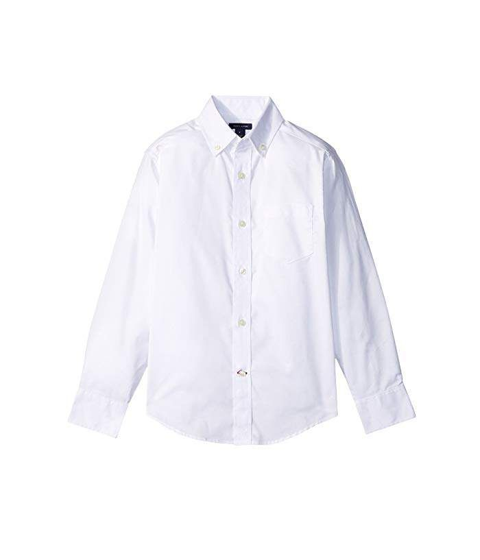 Tommy Hilfiger Short Sleeve Pinpoint Girls Oxford Blouse