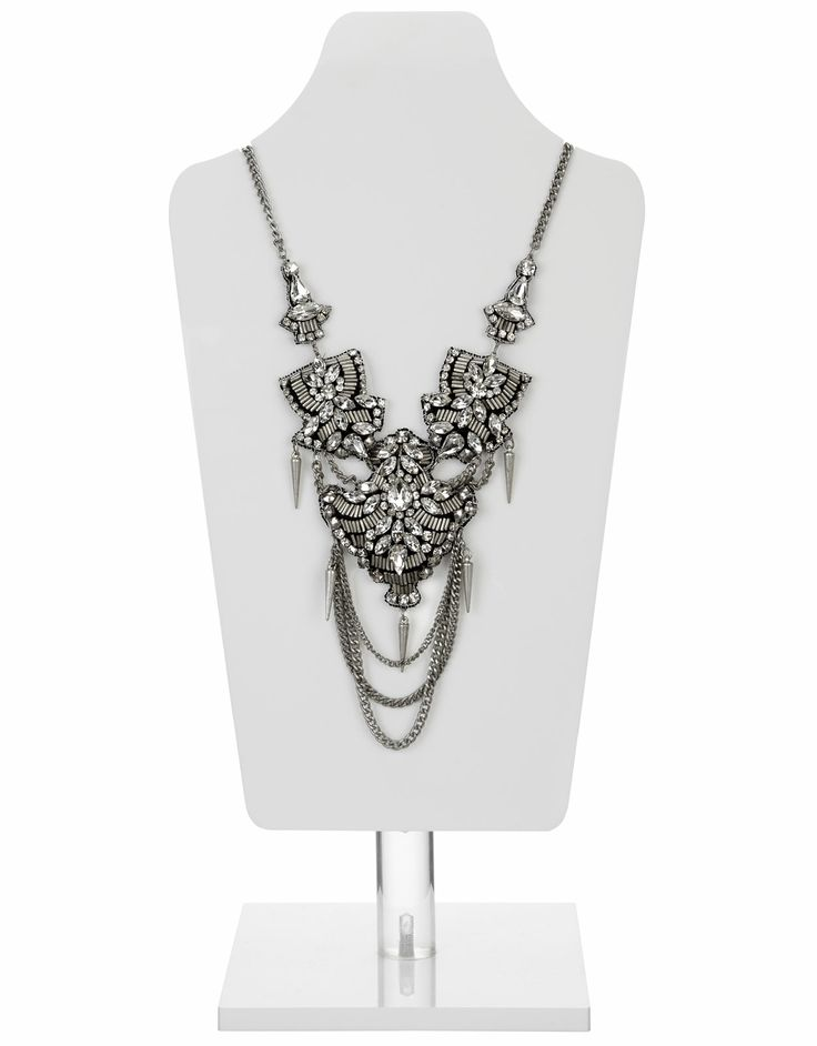 Delhi Urban Embellished Necklace | Silver | Accessorize