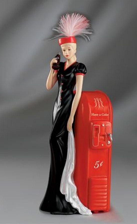 "Coca-Cola - ""Coke Beauties of the 1940's"" - Elegant Celebration Lady Figurine                                                                                                                                                     More"