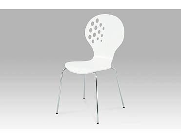 Jídelní židle bílá / chrom