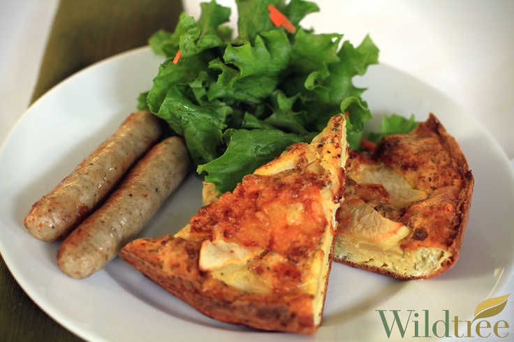 Apple and Cheddar Frittata! www.Facebook.com/wildtreeofficial