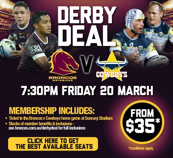 Broncos NRL doing one game memberships