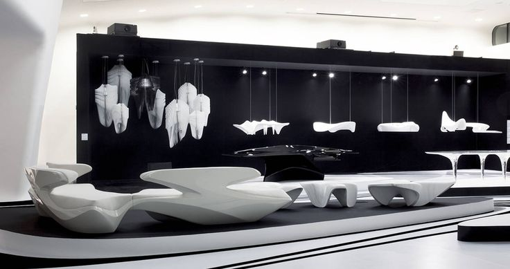Avia white and Aria designed by Zaha Hadid for the Dongdaemun Design Park, the exclusive building in Seoul (Korea) designed by the same Archistar