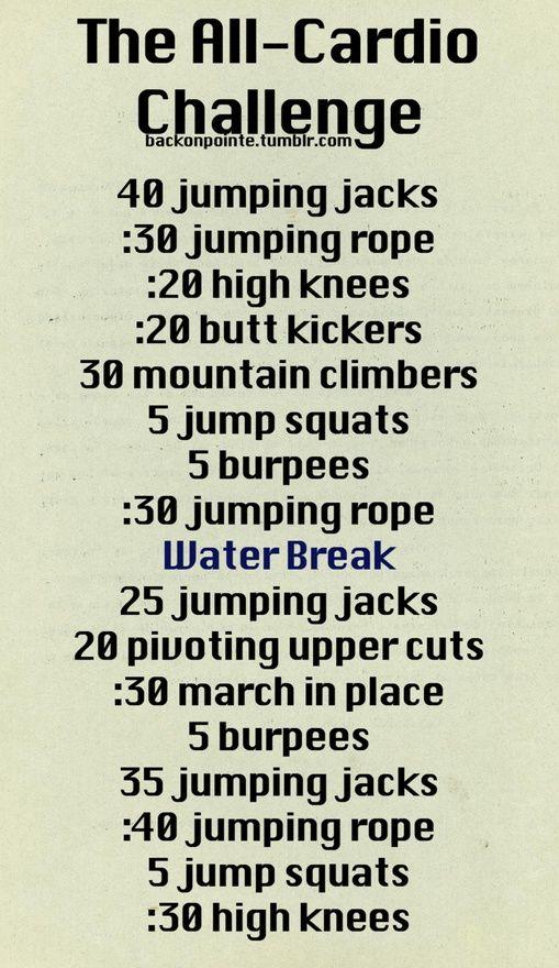 Jumping jacks mountain climbers