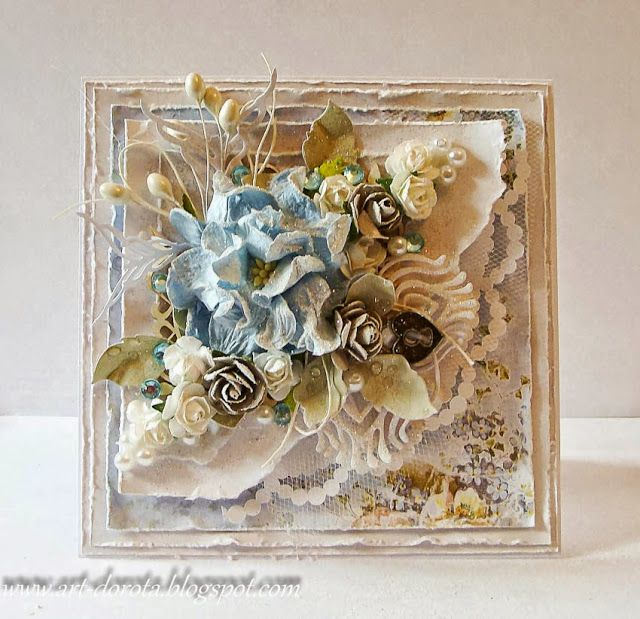 Gorgeous card made by Dorota. This card is loaded with layer upon layer of luscious details! I truly love her work! ♥ Love ♥