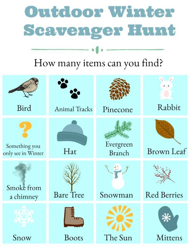 Outdoor Scavenger Hunt Ideas For Kids Toddlers