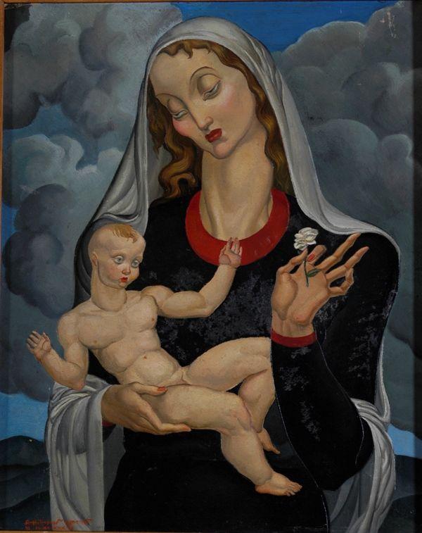 Virgen de la rosa blanca, 1940