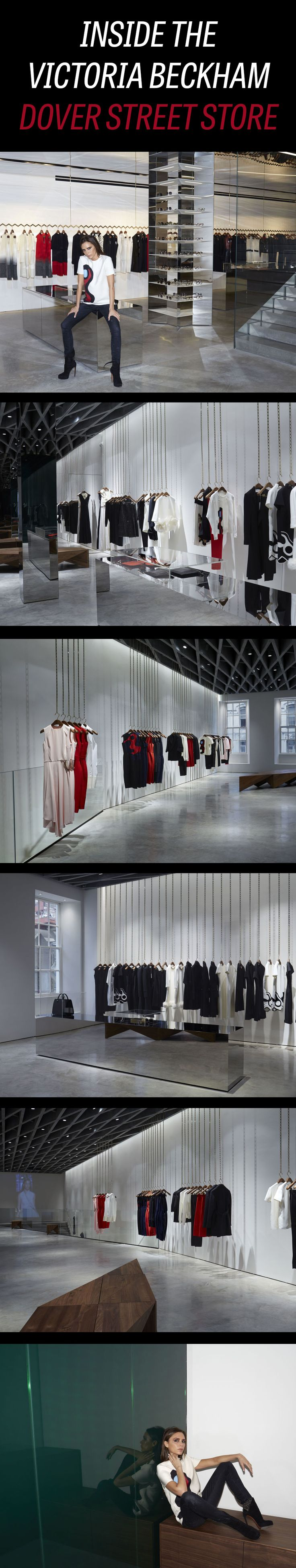 Victoria Beckham just opened her first store on London's Dover Street.