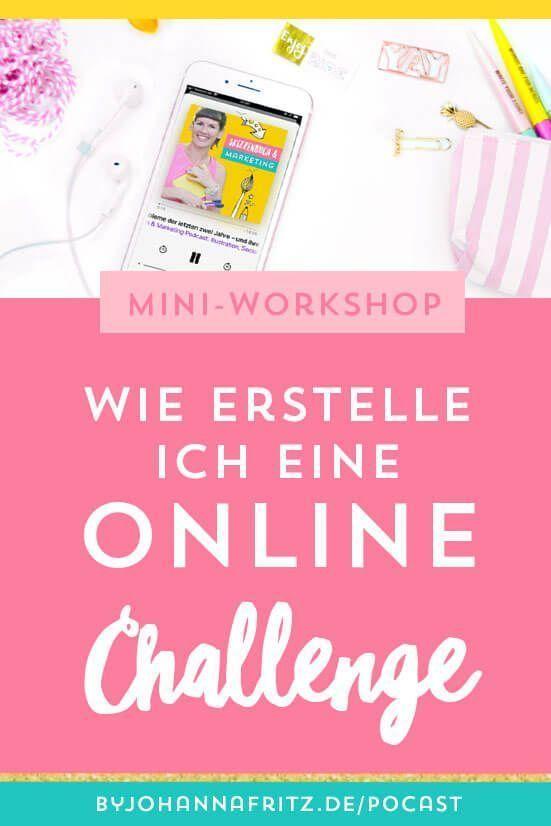 Online Challenges erstellen und nutzen