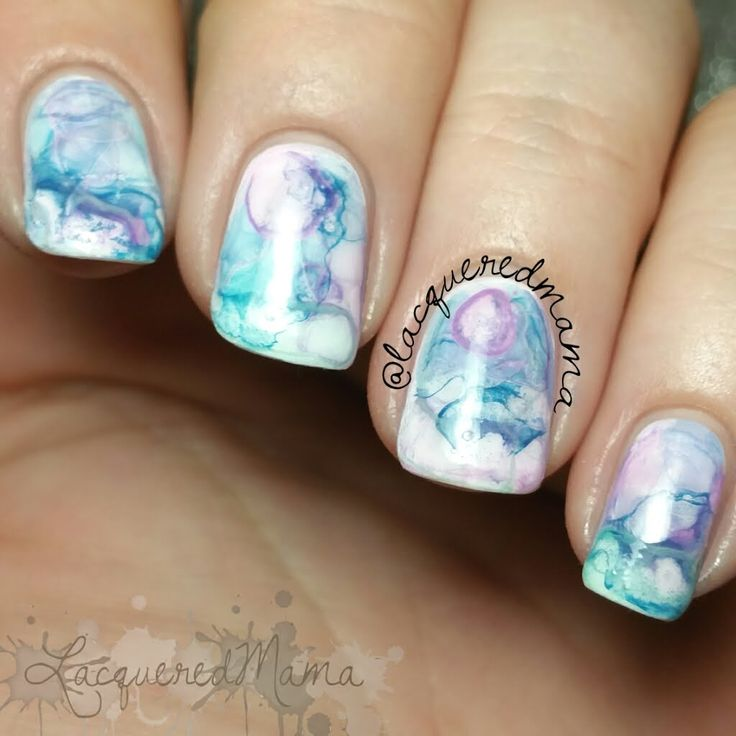 Watercolor Nail Art - Inspired by @maagsdinwiddie