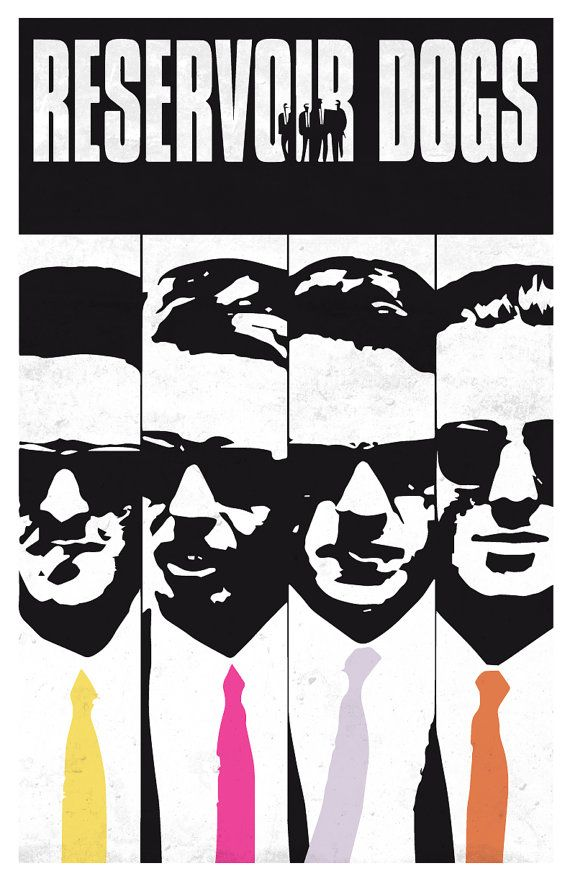 reservoir dogs limited black and white movie poster by