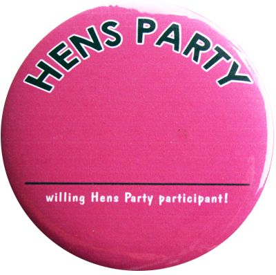 Hens Party Name Tag Badge.    A colourful, fun badge Hens Party Name Tag Badge.    Help the party along by letting everyone know everyone elses name!    Get one for all the girls!
