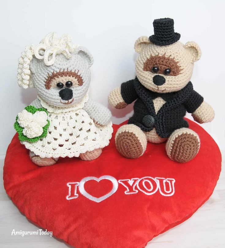 Amigurumi wedding bears: crochet pattern