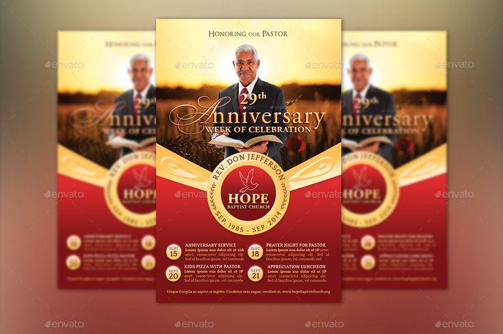 Pastor Anniversary Template Kit