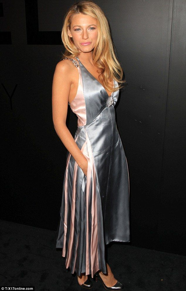 Just married: Blake Lively looked incredible in silver and pink at the Chanel Fine jewellery 80th anniversary of the 'Bijoux De Diamants' collection tonight