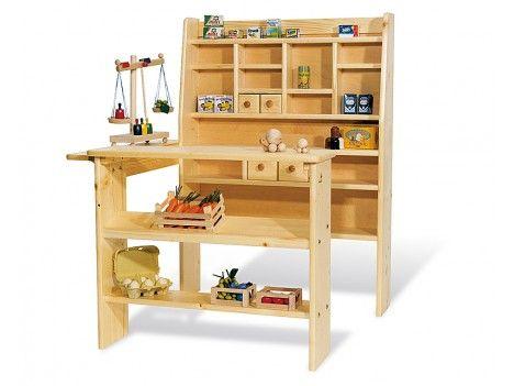 Pinolino, Kaufladen, Massiv Holz, mit 4 Schubladen, besonders standfest
