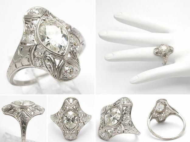 Fancy Antique marquise wedding rings Washington Dc The Wedding Specialists