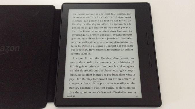 20170827 Test de la liseuse électronique Kindle OASIS Amazon 2