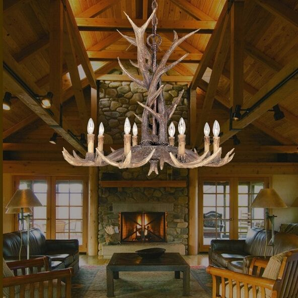 398.30$  Buy now - http://ali5r6.worldwells.pw/go.php?t=2047693563 - Whitetail 8 Antler Chandelier - SALE 110-220V free shipping