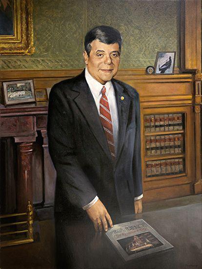"""Mayor Vincent """"Buddy"""" Cianci by Harley Bartlett Oil ~ 48 x 36"""