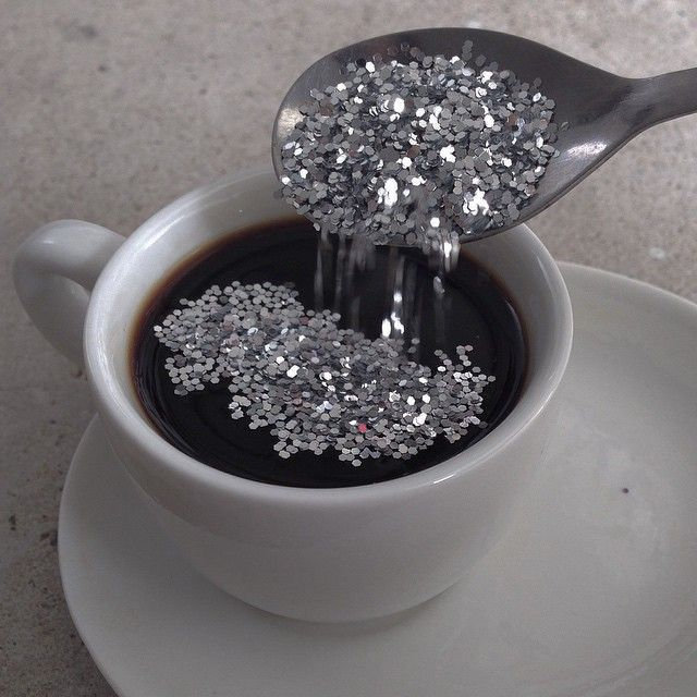dark and bitter with a spoonful of glitters