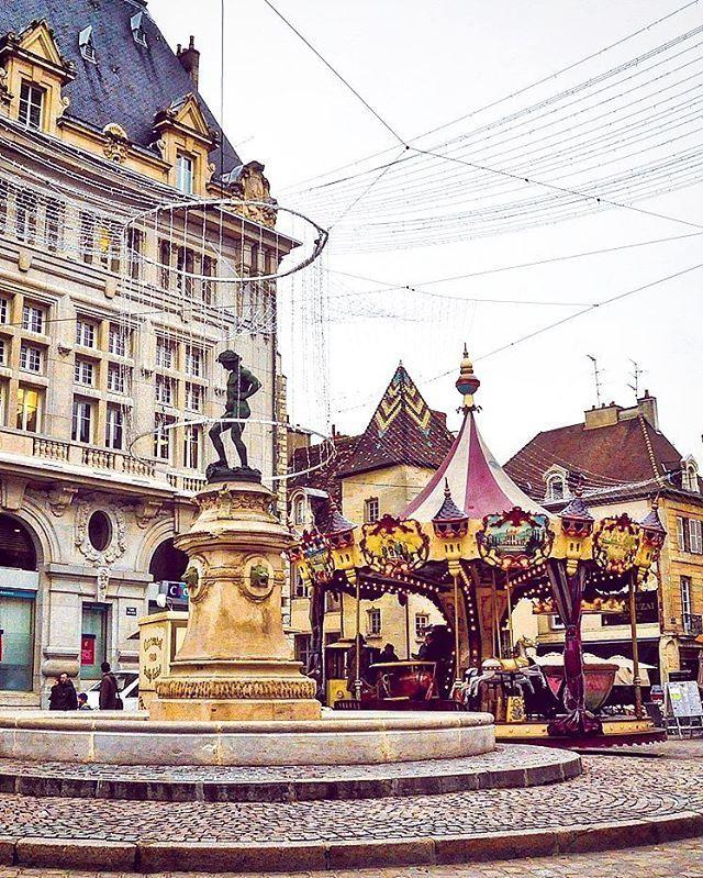 Dijon, Burgundy, France. Carousels. Round & round we go. | instagram: @queenetjuin | https://instagram.com/queenetjuin | Around the world. Lonely Planet. #dijon #france #europe