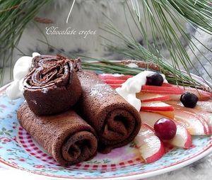 Шоколадные блины.