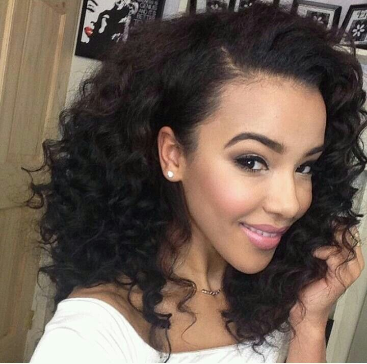 """100% Natural 6A Malaysian Curly Wave human hair extensions 10""""-30"""" 3Bundle Afro"""