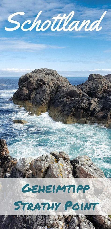 Ein Highlight und Geheimtipp der schottschen Highlands ist Strathy Point. Erfahre hier für deinen Urlaub in Schottland, wo du diese atemberaubenden Klippen findest. #schottland #reisen