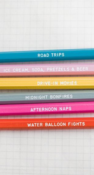 Days of summer - pencil set via @etsy #pencil #summer #quote #gifts #write #sketch #draw