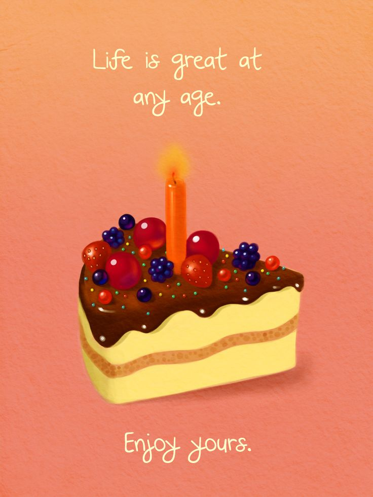 Life is Great at Any Age Card - Birthday Cards Application
