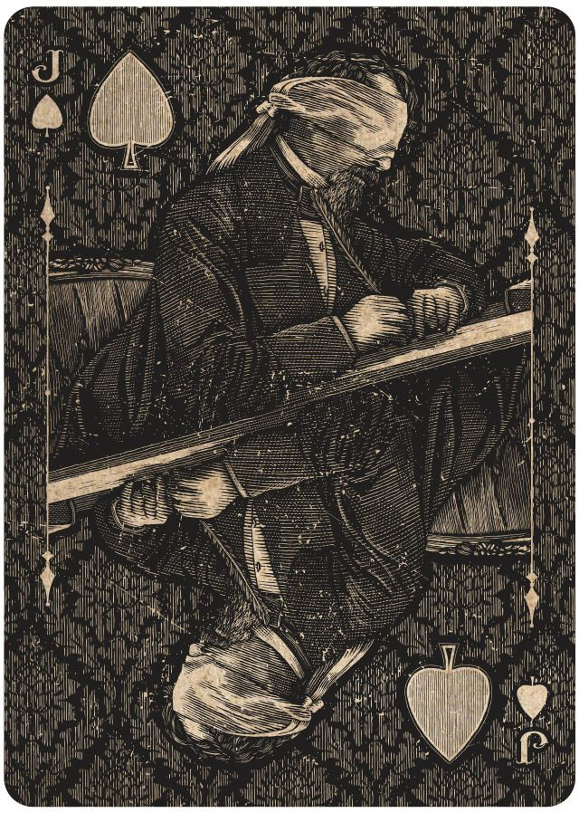Jack of Spades - Charles Dickens.  Oracle: Mystifying Playing Cards by Chris Ovdiyenko.
