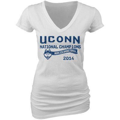 UConn Huskies 2014 NCAA Men's Basketball National Champions Women's V-Neck T-Shirt