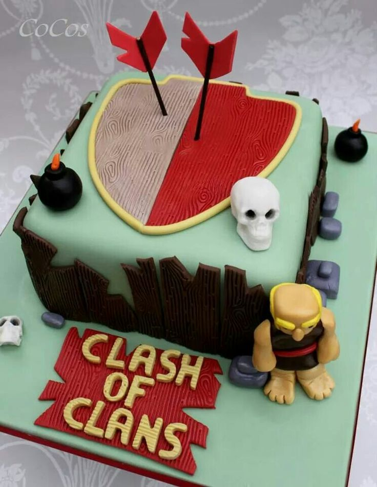 Clash of clans cake by cupcakecoco.com