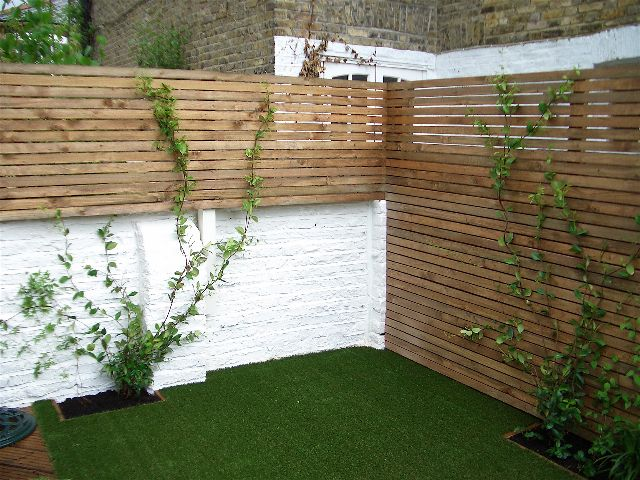 Astroturf for a shady child friendly garden