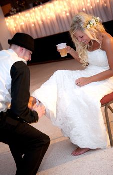Songs for each wedding reception event - entrance, garter toss, cutting the cake...
