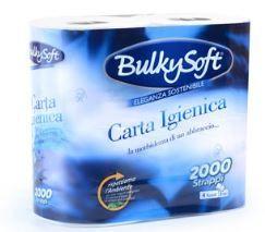CARTA IGIENICA BULKYSOFT CLASSICA 4 ROTOLI 2 VELI carta igienica compatta